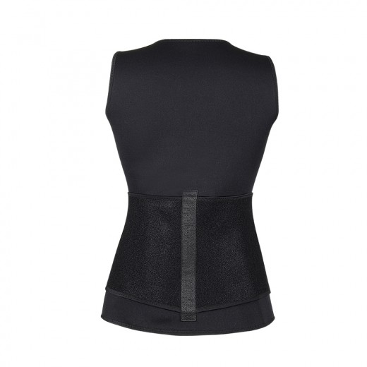 Classic Zipper Slimming Thermal Body Shapers Vest With Belt