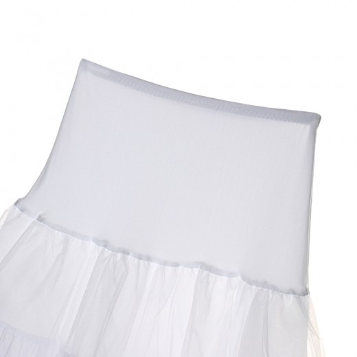 Lovely Tulle Flat Shape Waist White Petticoat Skirt