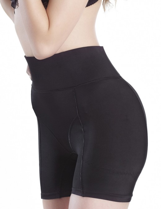 Medium Control Black High Rise Butt Lifter Large Boyshort