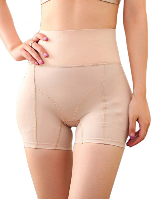 Slim High Rise Buttock Lifting Nude Panties Wide Waistband Plus Size