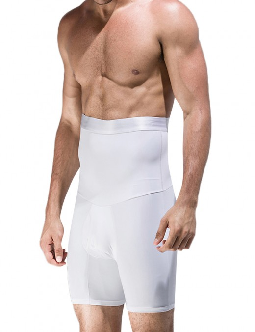 Explicitly Chosen White Men High Rise Booty Lifter Not Slide Body Shaper