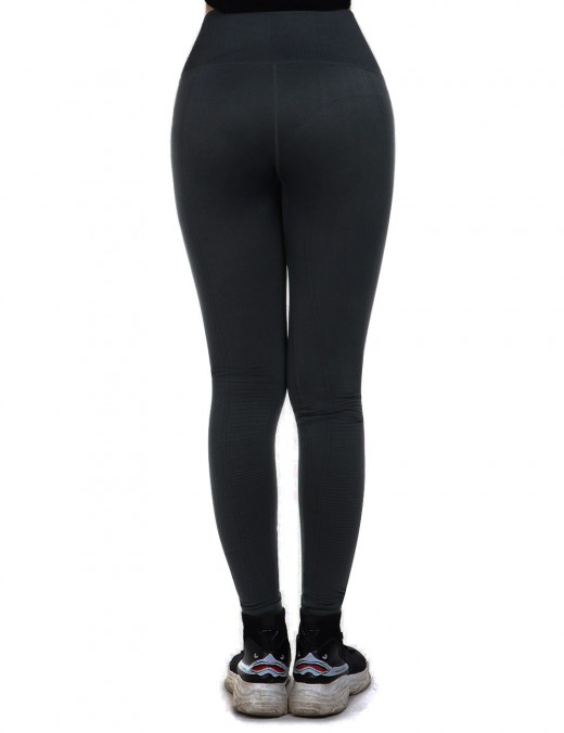Curvy Black High Waist Sports Tights Hips Enhancer For Women Runner