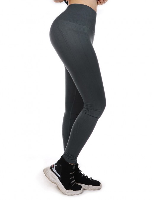 Grey Tighs For Yoga Lift Hips Empire Waist Contouring Sensation