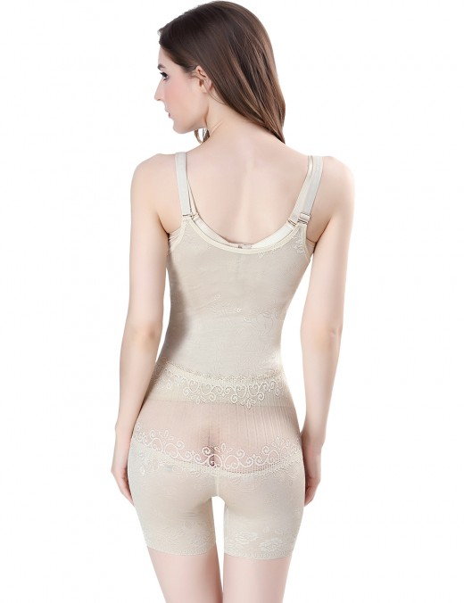 Slimmer Nude Back Opening Bodysuits Floral Lace Extra Sexy