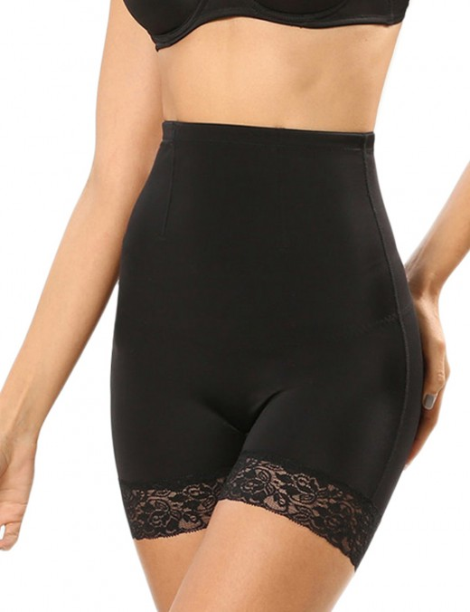 Lace Mesh Double-Layered Black Butt Lifters Blood Circulation Boosting