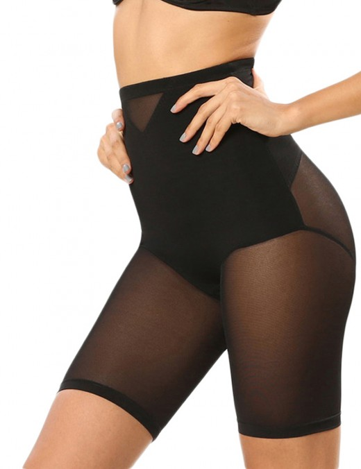 Smooth Abdomen Black Waist Double-Layered Mesh Butt Lifter Best Tummy