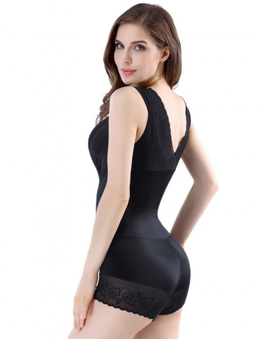 Defining Moment Extra Sexy Black Queen Size Lace Bodysuit Crotch Hook