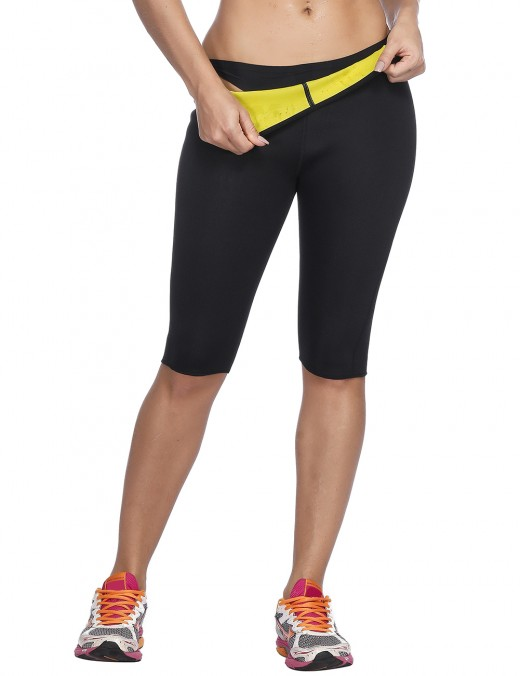 Comfortable Black Seamless Plus Size Neoprene Shorts Slimmer Best Selling