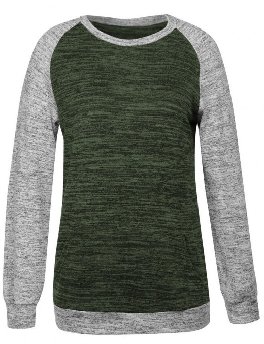 Exclusive Green Bat Full Sleeve Raglan Sweatshirt Fashion Insider