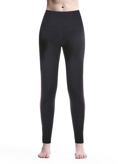 Chic Black Plain Neoprene Shaping Pants With Zipper Curve Slimmer