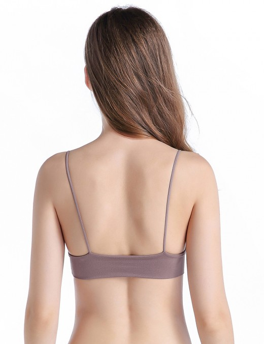 Appealing Purple Seamless Bra Sets Wireless Push Up High Grade Female