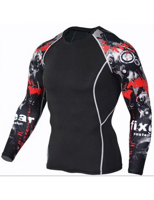 Breathable Quick Drying Print Tops Large Size Mens Confidence