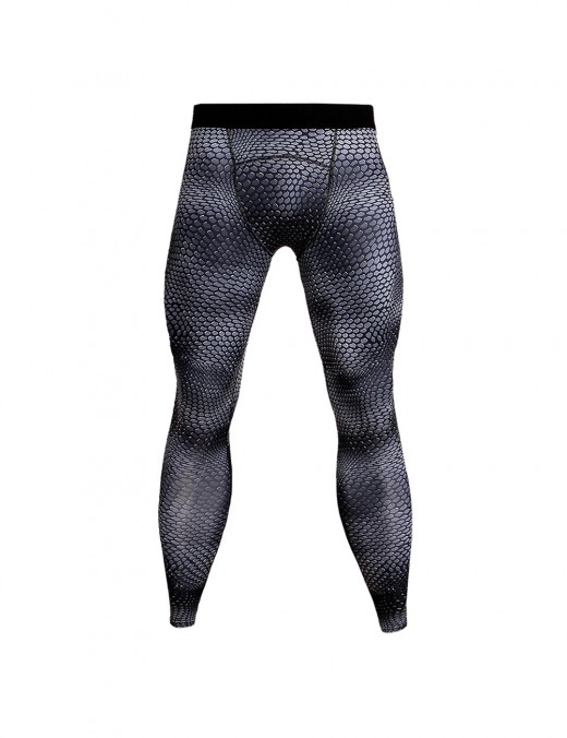 Modern Fit Fast Drying Sports Tights Large Size For Outdoor