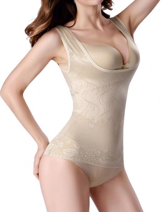 Tight Nude Ultra Thin Seamless Vest Shaper Underbust Wide Strap Comfort Revolution