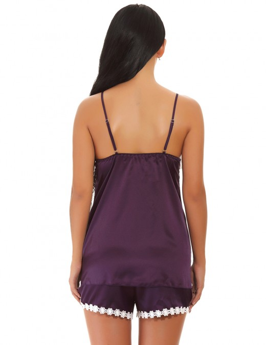 Enjoy Purple Adjustable Thin Strap Sleepwear Elastic Panties Maximum Comfort