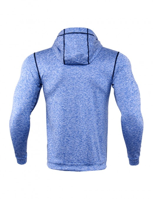 Svelte Blue Fast Drying Men's Big Size Fitness Top Reflect Strip Stretch