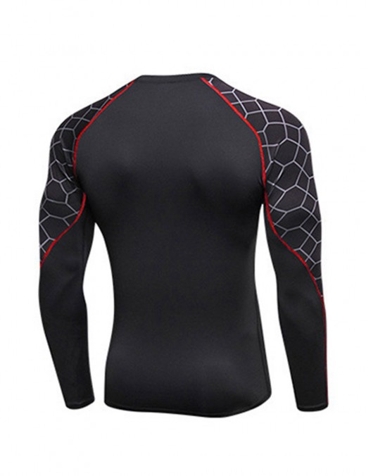 Outdoor Fast Drying Men's Fitness Shirt Tight Stitching Comfort Fashion