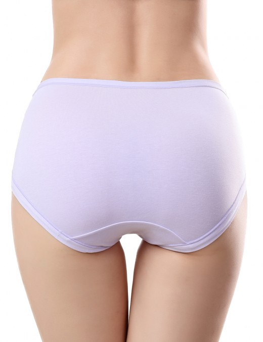 Dreamy Light Purple Solid Color Pregnant Panties Double Layers Affordable