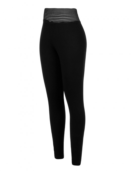 Individualistic Black Mid Waisted Sports Leggings Push Up For Woman