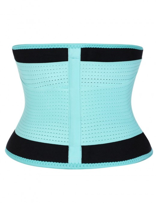 Light Blue Large Size SBR Embossing Waist Shaper Plastic Bone High Power