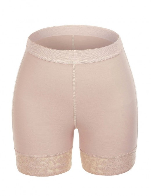 Slimming Nude Wide Elastic Band Butt Enhancer Panty Crotchless Good Elastic