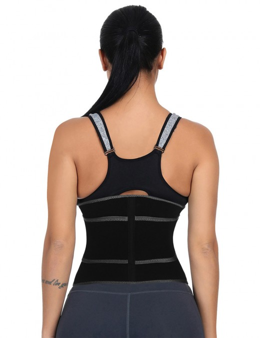 Remarkable Results Black Embossing Neoprene Waist Trainer Sticker Unique Fashion