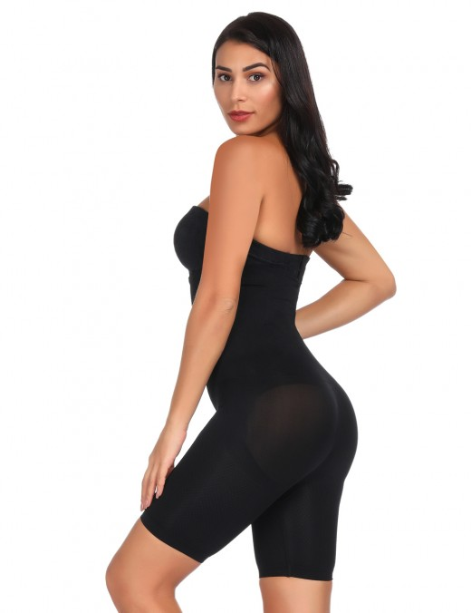 Must-Have Black Seamless Butt Lifter Panty High Rise Curve Shaper