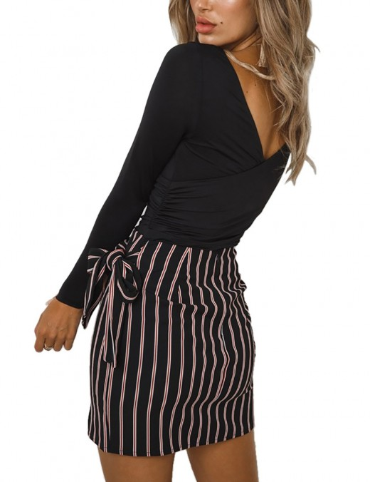 Hot Stuff Black Full-Sleeved Jumpsuit Snap Button Casual Fashion