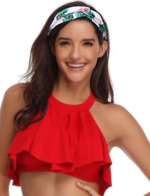 Mom Kid Wrapped Hair Band Ruched Printing Distinctive Look