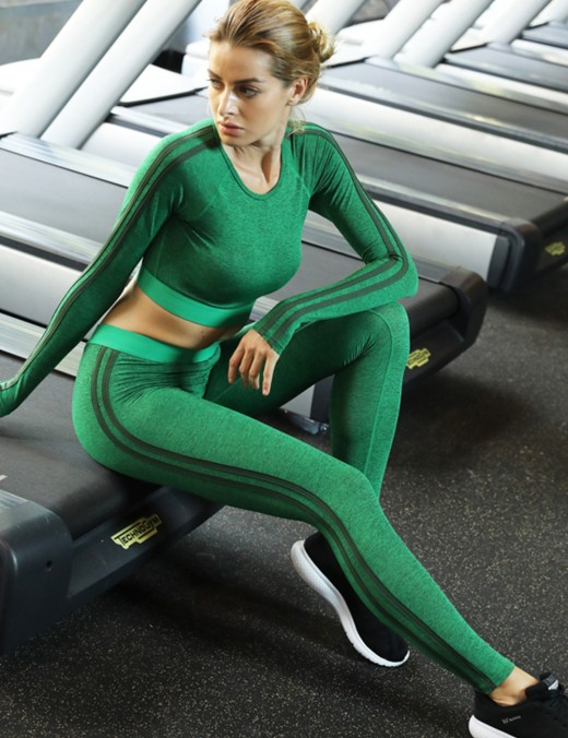 Fasinating Green Unpadded Tracksuit 2 Pieces Set Ankle Length Glamor
