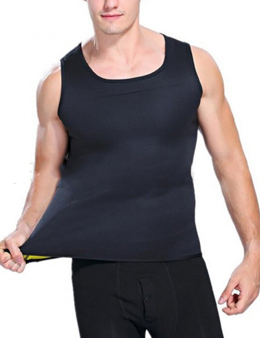 Men's Neoprene Slimming Vest Hot Gym Shaper Tummy Control