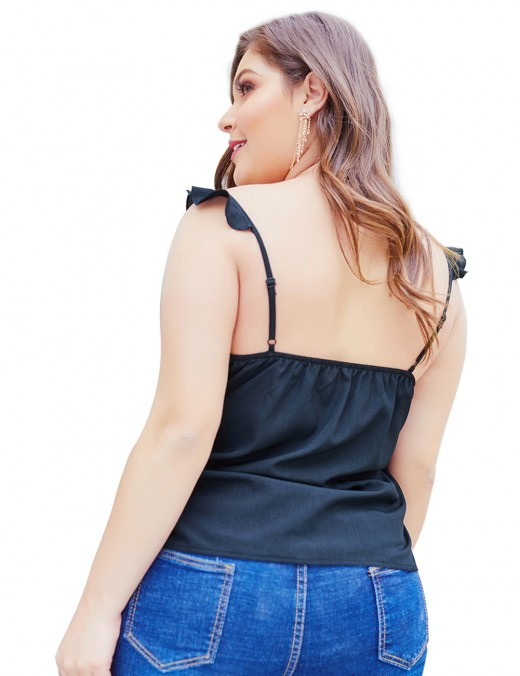 Sophisticated Silver Adjustable Straps Plus Size Ruched Tank Tops Sequin Fashion Insider
