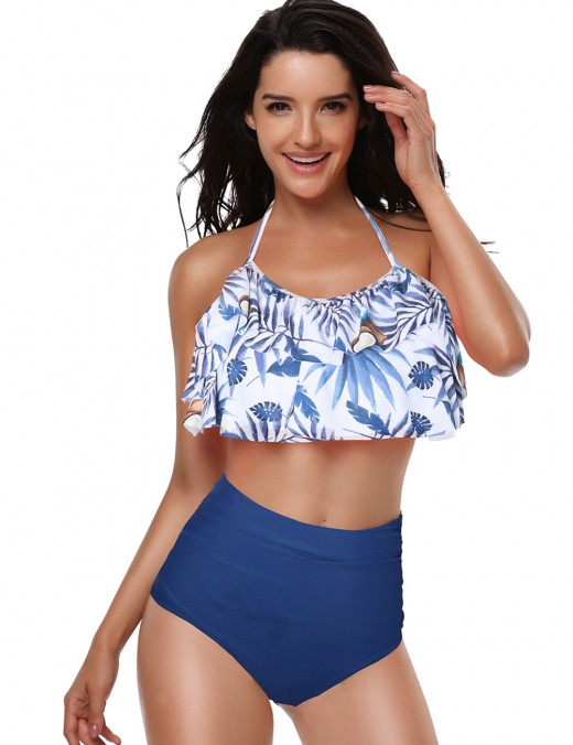 Hot Mother Daughter Ruched 2 Pieces Swimwear Open Back Fashion Essential