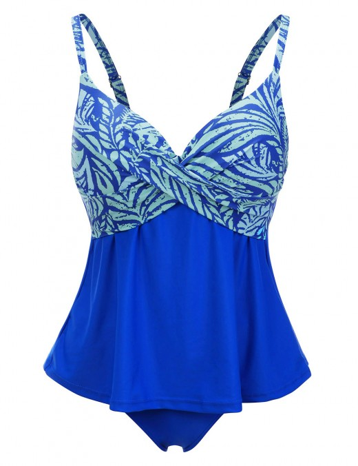 Virtuoso Ruched 2 Pieces Tankini Set Big Size Beach Vacation