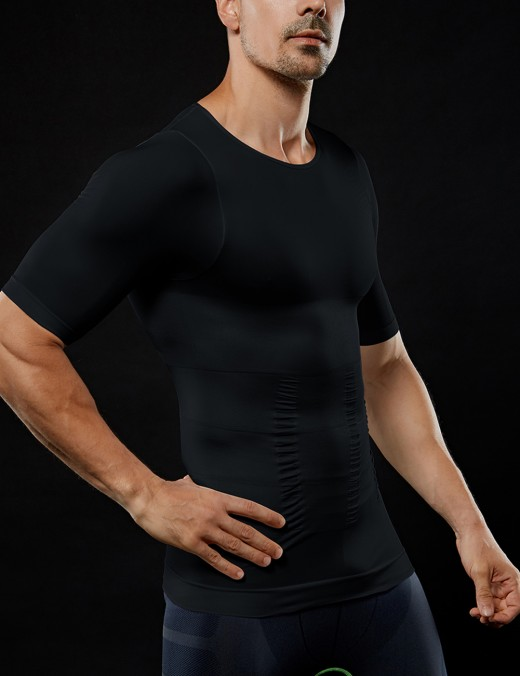 Black Pressure Belt Affordable High Elasticized Men's Shaper Touch Smooth