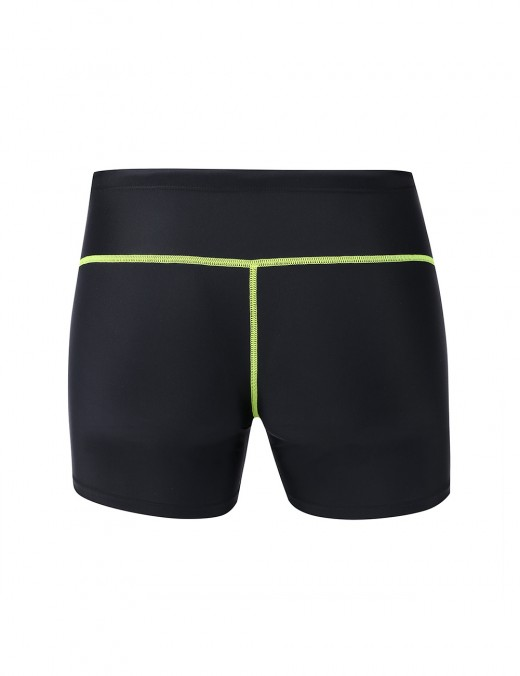 Super Sexy Black Mens Boxer Brief Swimwear With Drawstring Newest Fashion
