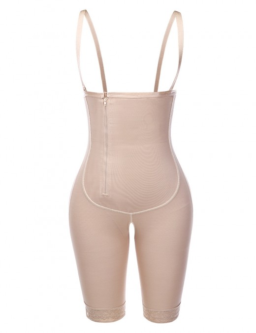 Essential Nude Zipper Underbust Queen Size Bodysuit Hooks Ultimate Stretch