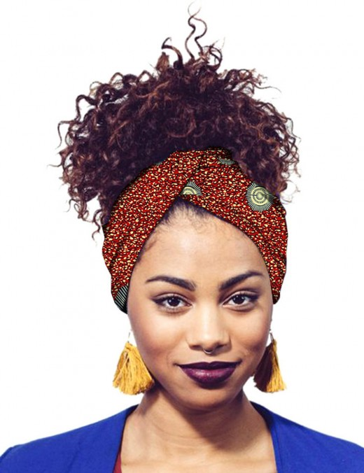 Charming Africa Printing Hairband Twist Cotton Fast Shipping