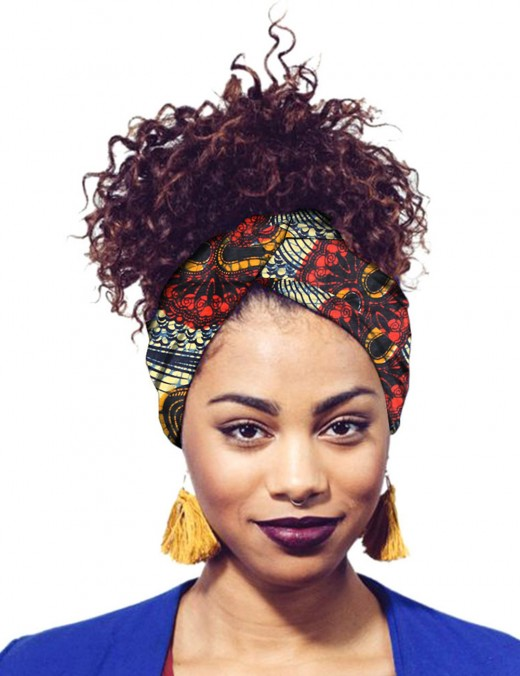 Honey African Printing Hair Band Accessories Lady Dress