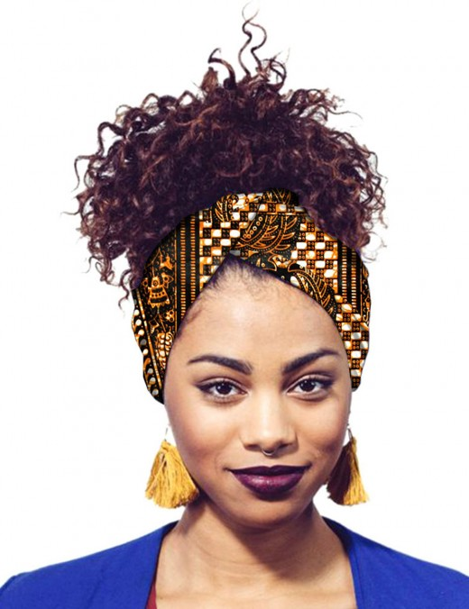 Excellent Batik Print Africa Hair Band Twist Fashion Ideas