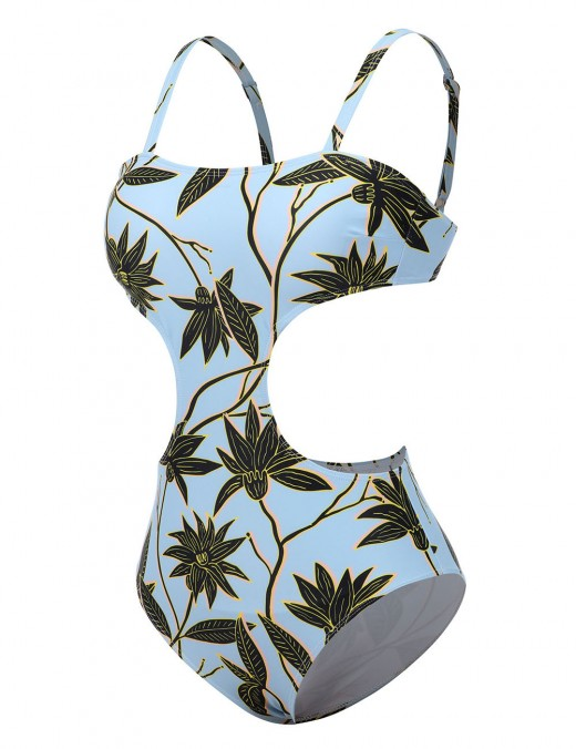 Popularity Cut Out Slender One Piece Monokini Womens