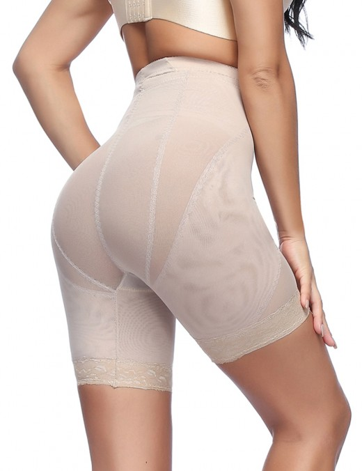 Comfortably Apricot High Waist Plus Shaping Panty Floral Lace