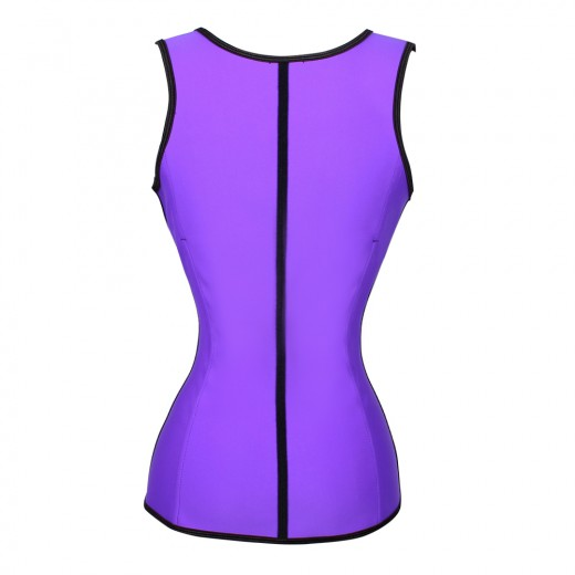 Slimming Stomach Purple Latex Waist Training Steel Boned Corsets
