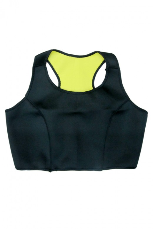 Black Neoprene Yoga Fitness Vest Crop Top