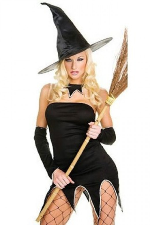 Sultry Serrated Hem Witch Dress Unique Halloween Costumes