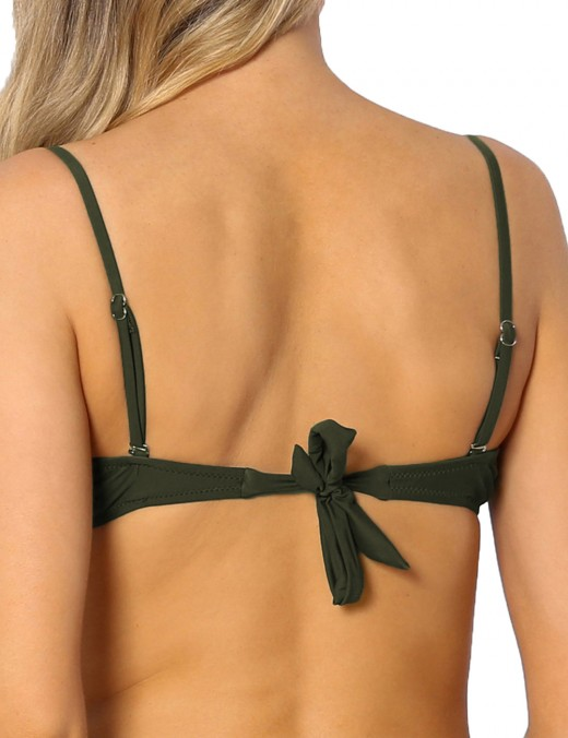 Interesting Green Tie Back Bathing Suits Spaghetti Straps Sexy Ladies