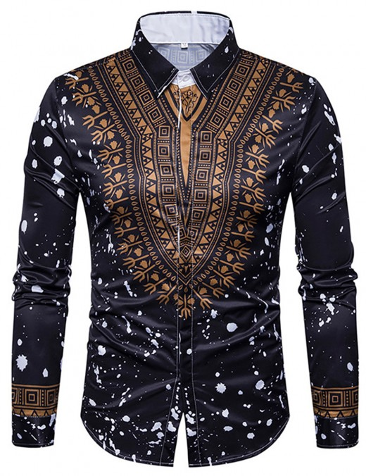Lusty Black Dashiki Cardigan Buttons Male Top Big Size For Hiking