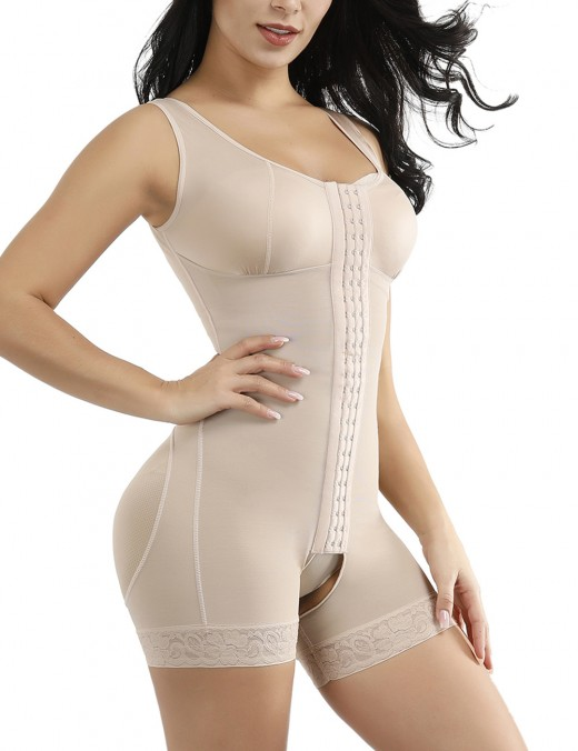 Waist Slimmer Skin Glue Wide Straps Lace Crotchless Big Size Bodysuits