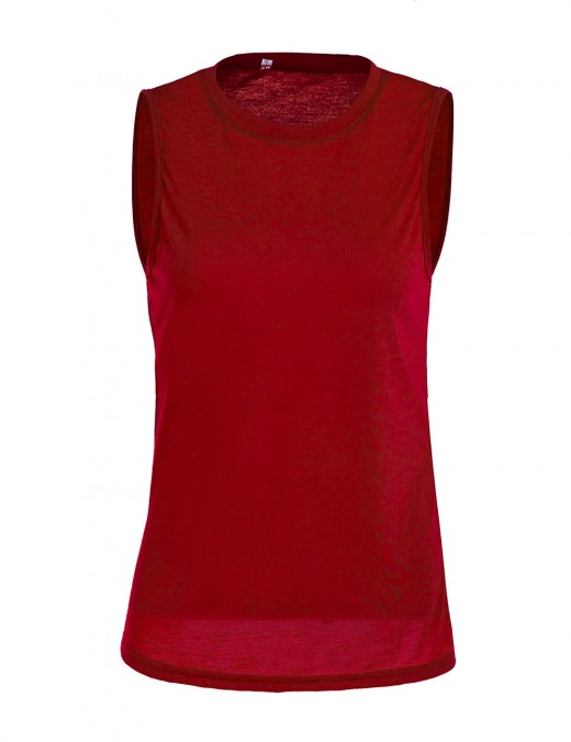 Ultra Contemporary  Red Sleeveless Round Neck Tank Top Print Amazing Look