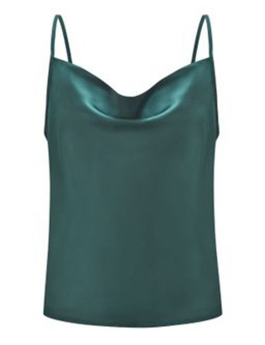Fitness Blackish Green Chiffon Large Size Vest Top Backless For Work